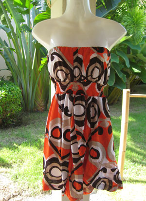 Orange hawaii dress