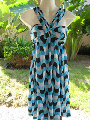 Natural waves seablue dress