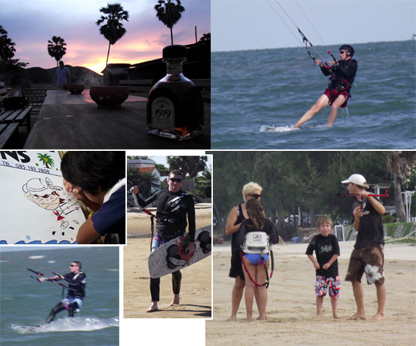kitesurfing thailand may 2010 pranburi