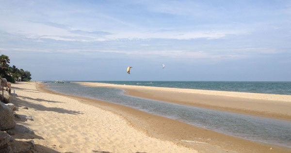 kitesurfing pranburi october
